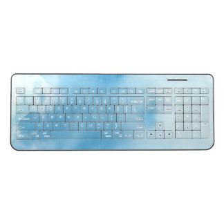 Blue Sky Watercolor Wireless Keyboard