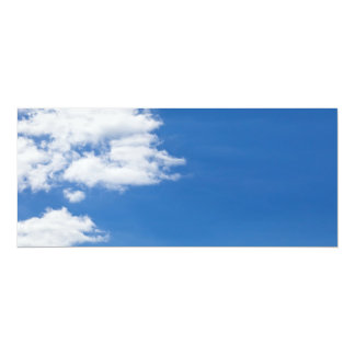 Blue Sky White Clouds Background Customized Blank Card
