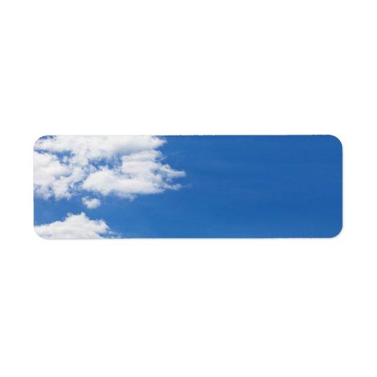 Blue Sky White Clouds Background Customized Blank Return Address Label