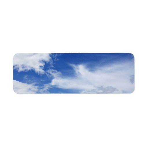 Blue Sky White Clouds Background - Customized Labels