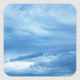 Blue Sky White Clouds Background skies heaven Square Sticker