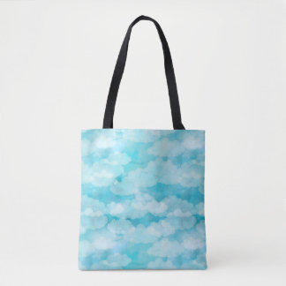Blue Sky, White Clouds, Cloudscape, Cloudy Sky Tote Bag