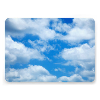 """Blue Sky White Clouds Heavenly Skies Background 5"""" X 7"""" Invitation Card"""
