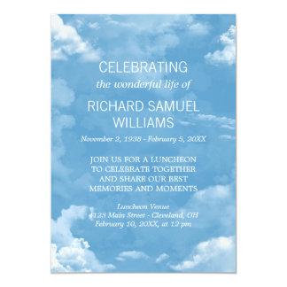 Blue Sky White Clouds Life Celebration Card
