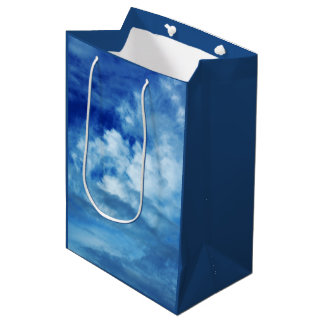Blue Sky White Clouds Medium Gift Bag