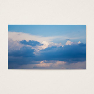 Blue Sky White Clouds Sunrise Background Template Business Card