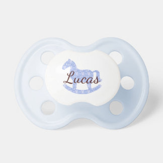 Blue Sky White Rocky Horse•Custom Pacifier