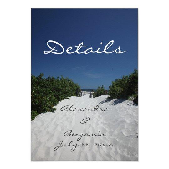 Blue Sky ~ White Sand Details Card