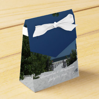Blue Sky ~ White Sand Favor Box