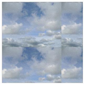 Blue sky wild duck clouds fabric