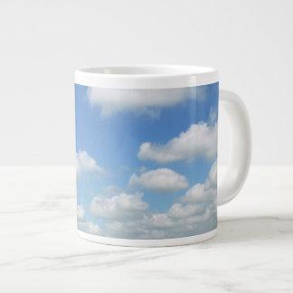 Blue Sky with Clouds Large Coffee Mug