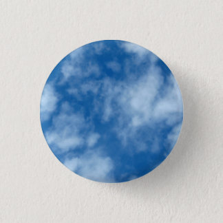 Blue Sky with Clouds Photo 1 Inch Round Button