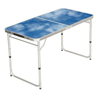 Blue Sky with Clouds Photo Beer Pong Table