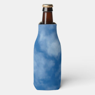 Blue Sky with Clouds Photo Bottle Cooler