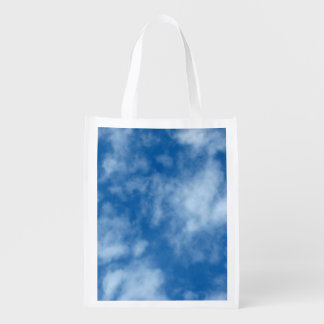 Blue Sky with Clouds Photo Reusable Grocery Bag