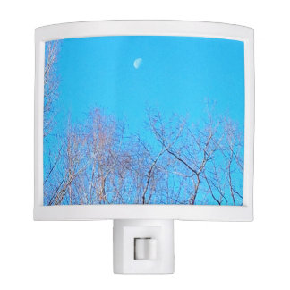 Blue sky with moon Night Light