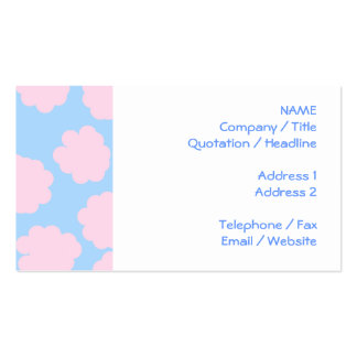 Blue Sky with Pink Clouds Pattern. Business Card Templates
