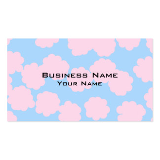 Blue Sky with Pink Clouds Pattern. Business Cards