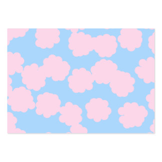 Blue Sky with Pink Clouds Pattern. Business Card