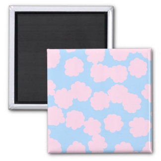 Blue Sky with Pink Clouds Pattern. Magnet