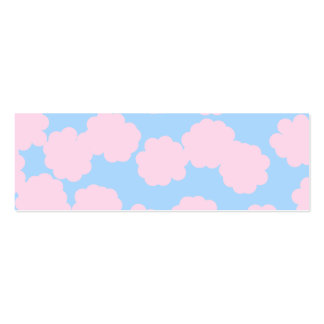 Blue Sky with Pink Clouds Pattern. Mini Business Card