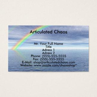 Blue Sky With Rainbow Business Card