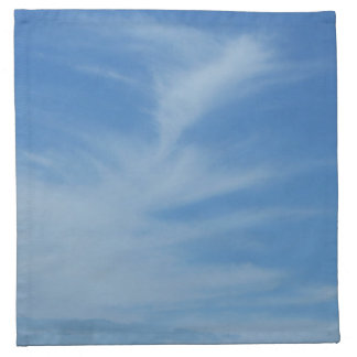 Blue Sky with White Clouds Abstract Nature Photo Napkin