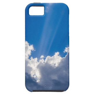 Blue sky with white clouds and ray of sunshine. iPhone 5 cover