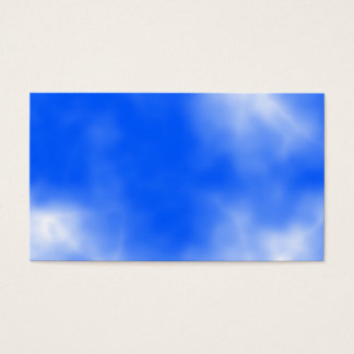 Blue sky with white clouds. business card
