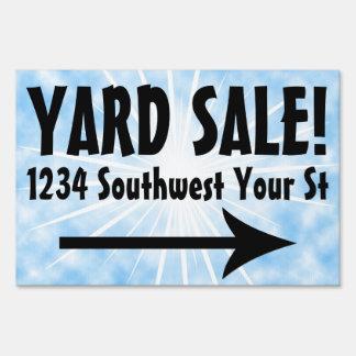 Blue Sky Yard Sale Customizable Sign