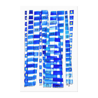 Blue Skyscrapers Canvas Print