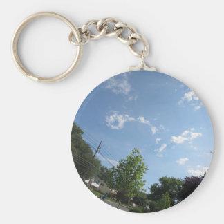 Blue SKYview Sky CherryHILL America Gifts NVN684 f Basic Round Button Keychain