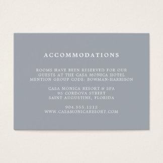 Blue Slate Wedding Hotel Accommodations Cards