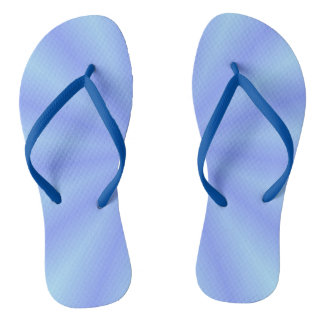 Blue  Slim Straps Flip Flops