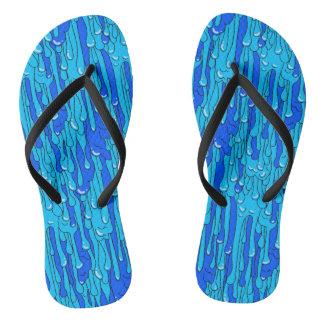 Blue Slime Flip Flops