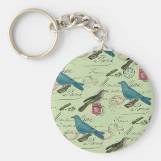 Blue small birds keychain