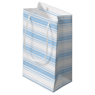 blue small gift bag