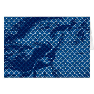 blue small scallops and texture horizontal card