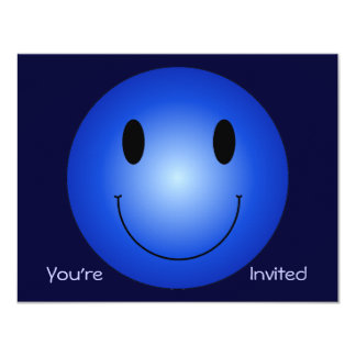 Blue Smiley Card
