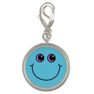 Blue Smiley Face Charms