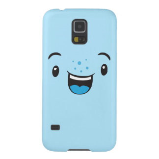 Blue Smiling Kawaii Face Case Case For Galaxy S5