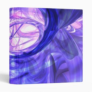 Blue Smoke Abstract Binder