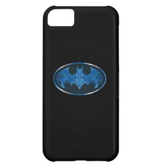 Blue Smoke Bat Symbol iPhone 5C Cover