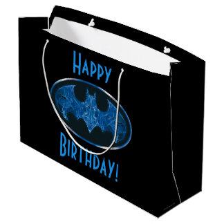 Blue Smoke Bat Symbol Large Gift Bag