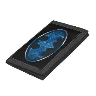 Blue Smoke Bat Symbol Tri-fold Wallet
