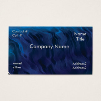 blue smoke swirls business card