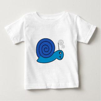 Blue snail animation cartoon illustration shirt