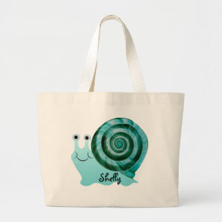 Blue Snail Large Tote Bag
