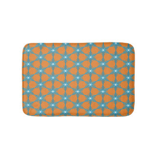 Blue Snow Flakes Small Bath Mat