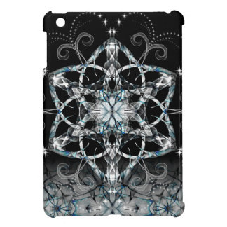 Blue Snow Flower iPad Mini Covers